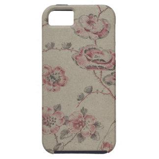 Capas Para iPhone 5 Teste padrão de flor cor-de-rosa - francês