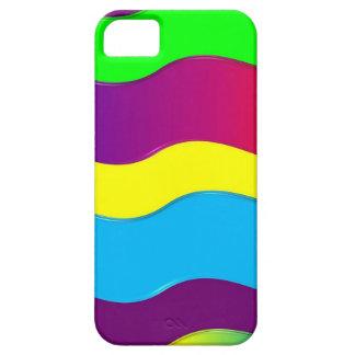 Capas Para iPhone 5 Teste padrão de ondas colorido do amarelo verde do