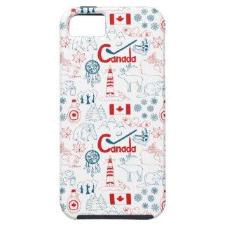 Capas Para iPhone 5 Teste padrão dos símbolos de Canadá |
