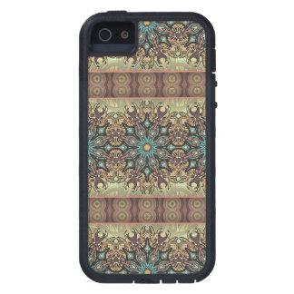 Capas Para iPhone 5 Teste padrão floral étnico abstrato colorido da