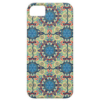 Capas Para iPhone 5 Teste padrão floral étnico abstrato colorido de da