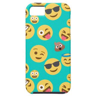 Capas Para iPhone 5 Teste padrão louco de Emoji da cerceta