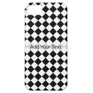 Capas Para iPhone 5 Teste padrão preto e branco do diamante por