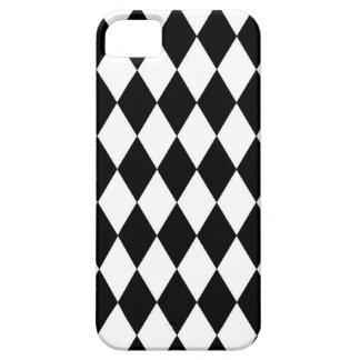 Capas Para iPhone 5 Teste padrão preto e branco do Harlequin