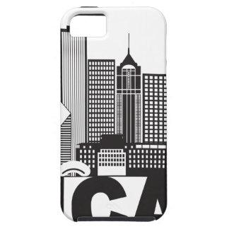 Capas Para iPhone 5 Texto da skyline da cidade de Chicago preto e