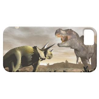 Capas Para iPhone 5 Tiranossauro que ruje no triceratops - 3D rendem