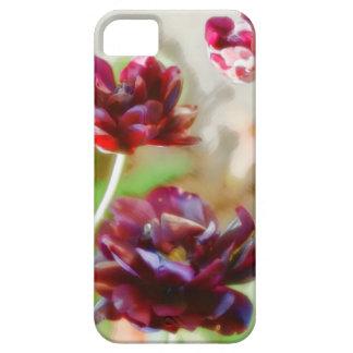 Capas Para iPhone 5 Trio de florescência da tulipa da peônia escura do