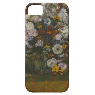 Capas Para iPhone 5 Uma mulher assentada ao lado de um vaso das flores