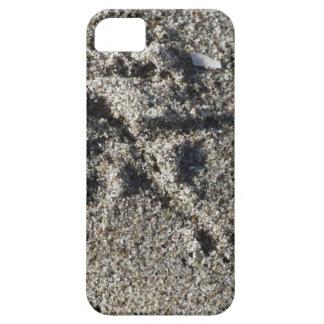 Capas Para iPhone 5 Única pegada do pássaro da gaivota na areia da