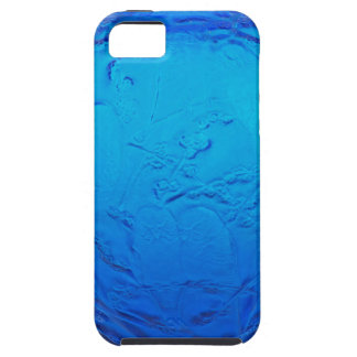 Capas Para iPhone 5 Vaso de vidro do art deco azul com pássaros