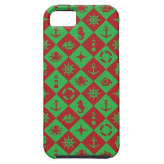 Capas Para iPhone 5 Vermelho e verde náuticos