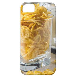 Capas Para iPhone 5 Vidro do cereal seco e um vidro do leite
