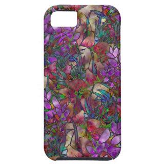 Capas Para iPhone 5 vitral abstrato floral do caso do iPhone 5