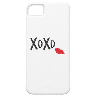 Capas Para iPhone 5 XoXo-Abraço-Beijo-com-Vermelho-Lábios