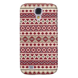 Capas Personalizadas Samsung Galaxy S4 Areia de creme dos cinzas vermelhos astecas de IIb