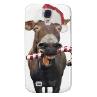 Capas Personalizadas Samsung Galaxy S4 Asno do Natal - asno do papai noel - papai noel do