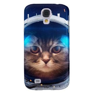 Capas Personalizadas Samsung Galaxy S4 Astronauta do gato - gatos no espaço - espaço do