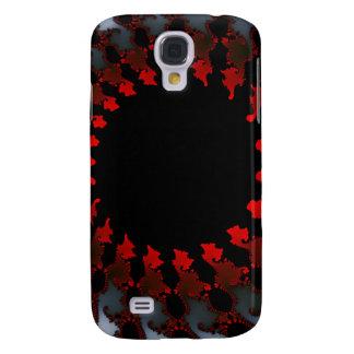 Capas Personalizadas Samsung Galaxy S4 Branco preto vermelho do Fractal
