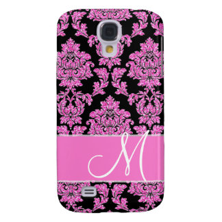 Capas Personalizadas Samsung Galaxy S4 Cor damasco do brilho do rosa quente no preto,