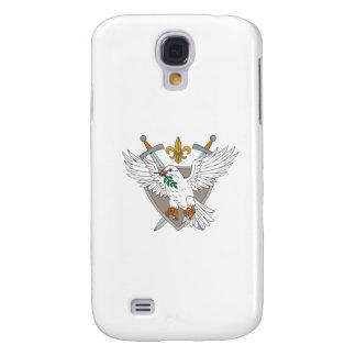Capas Personalizadas Samsung Galaxy S4 Desenho verde-oliva da crista da flor de lis da