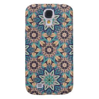 Capas Personalizadas Samsung Galaxy S4 Design floral do teste padrão do abstrato da