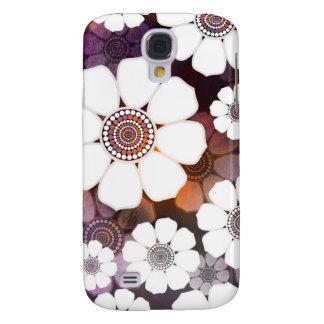 Capas Personalizadas Samsung Galaxy S4 Flower power roxo Funky