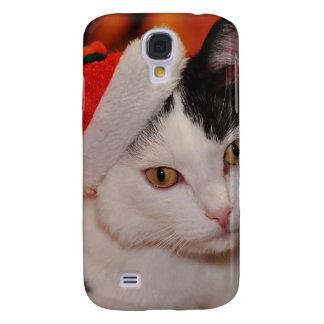 Capas Personalizadas Samsung Galaxy S4 Gato de Papai Noel - Feliz Natal - gato do animal
