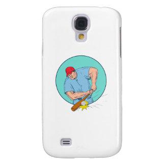 Capas Personalizadas Samsung Galaxy S4 Jogador de beisebol que bate um desenho de Homerun