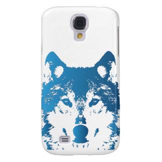 Capas Personalizadas Samsung Galaxy S4 Lobo do azul de gelo da ilustração