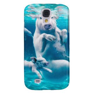 Capas Personalizadas Samsung Galaxy S4 Praia do porco - porcos da natação - porco