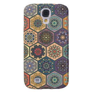 Capas Personalizadas Samsung Galaxy S4 Retalhos do vintage com elementos florais da