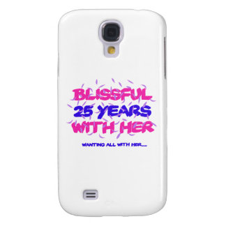 Capas Personalizadas Samsung Galaxy S4 Tendendo o 25o design do aniversário do casamento