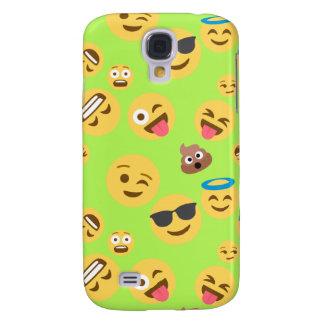 Capas Personalizadas Samsung Galaxy S4 Teste padrão engraçado de Emoji (verde)