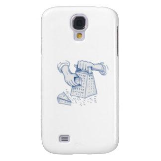 Capas Samsung Galaxy S4 Aguarela Grating do Grater Handheld do queijo
