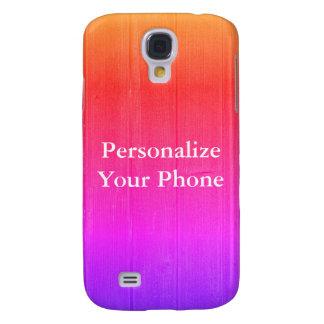 Capas Samsung Galaxy S4 Brilhante colorido da grão de madeira