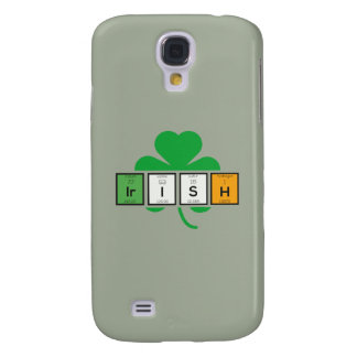 Capas Samsung Galaxy S4 Elemento químico Zz37b do cloverleaf irlandês