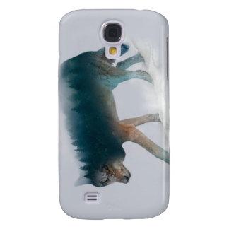Capas Samsung Galaxy S4 Exposição dobro do lobo - floresta do lobo - lobo