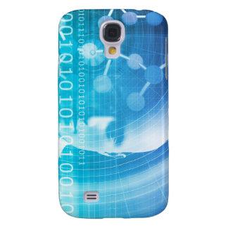 Capas Samsung Galaxy S4 Fundo da molécula como um conceito do abstrato da