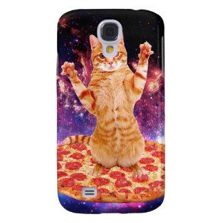 Capas Samsung Galaxy S4 gato da pizza - gato alaranjado - espace o gato