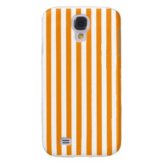 Capas Samsung Galaxy S4 Listras finas - branco e tangerina