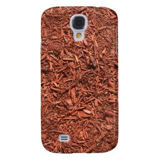 Capas Samsung Galaxy S4 mulch detalhado do cedro vermelho para o