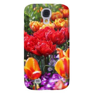 Capas Samsung Galaxy S4 Ondas florais dos carmesins de Falln