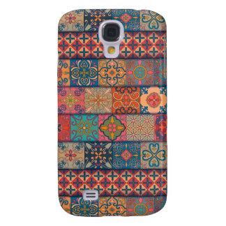 Capas Samsung Galaxy S4 Ornamento de talavera do mosaico do vintage