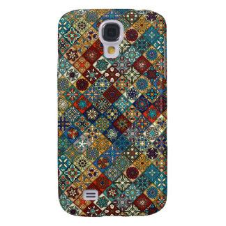 Capas Samsung Galaxy S4 Retalhos do vintage com elementos florais da