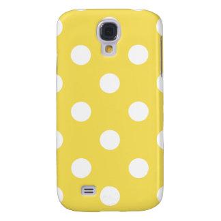 Capas Samsung Galaxy S4 Teste padrão de bolinhas amarelo