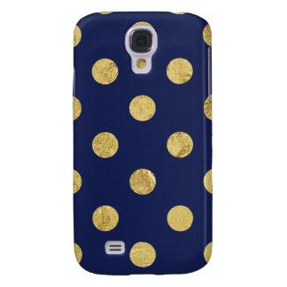 Capas Samsung Galaxy S4 Teste padrão de bolinhas elegante da folha de ouro