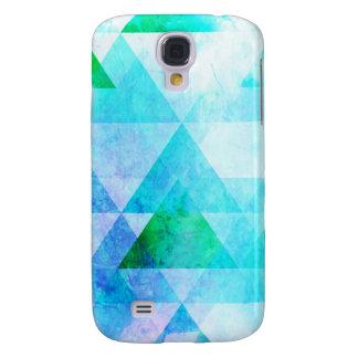 Capas Samsung Galaxy S4 Teste padrão geométrico da aguarela azul
