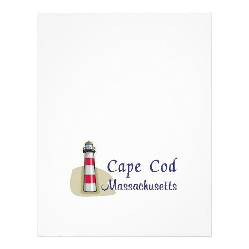 Cape Cod Massachusetts Panfleto Coloridos