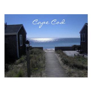 Cape Cod Massachusetts no cartão do crepúsculo