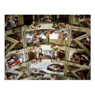 Capela de Sistine, vaticano, Roma, Italia Cartão Postal